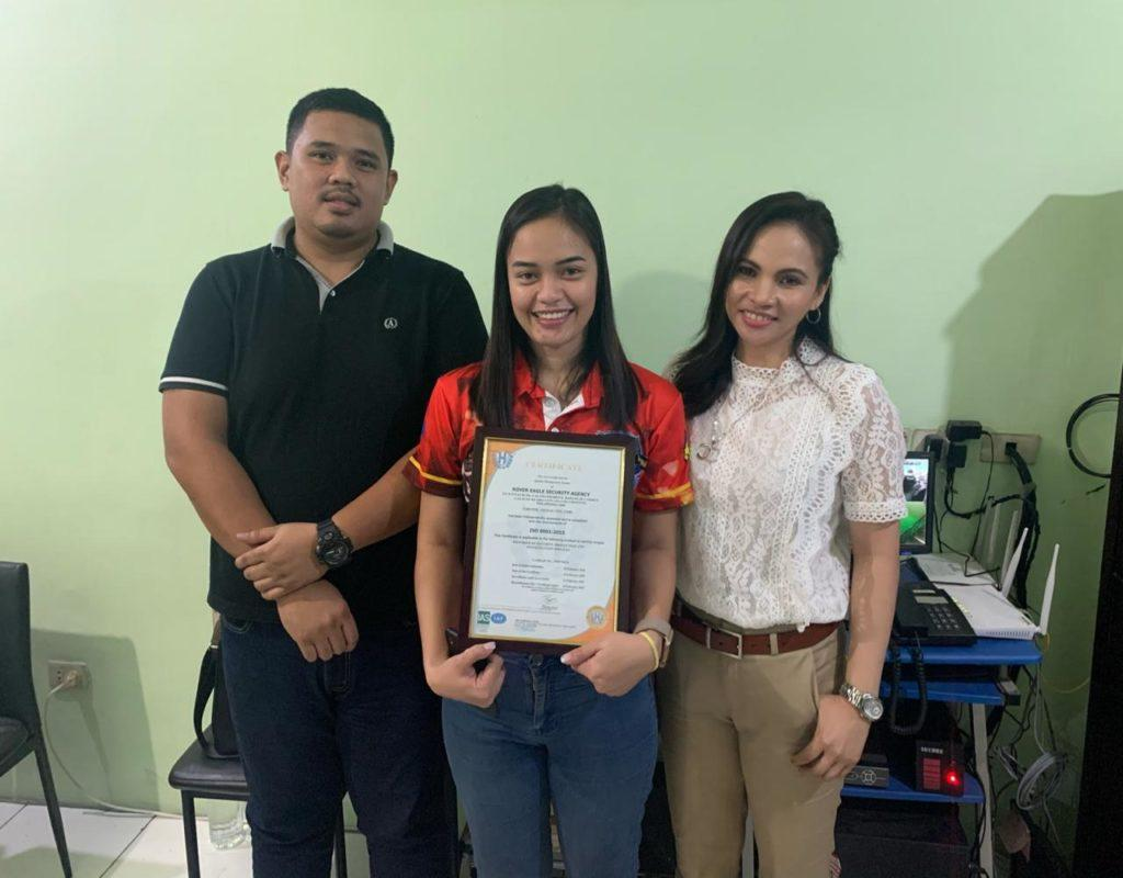 , Successful completion of ISO 9001:2015 Quality Management System Certification project for Rover Eagle Security Agency for Cebu and Cagayan de Oro City based operations.